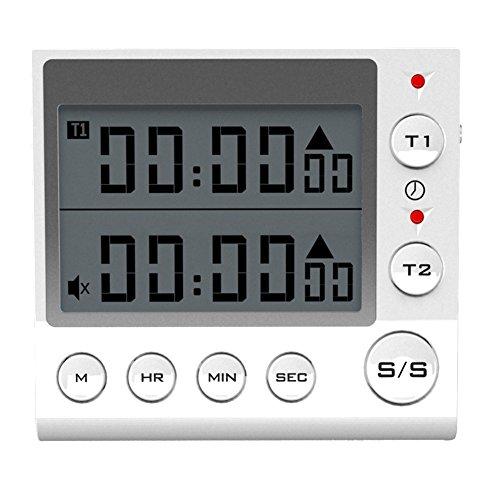 Digital Countdown Timer 2 Channel Flashing LED for Lab