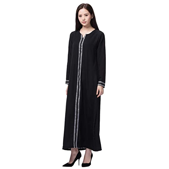 0d6ea43cc9 Moonface Fashion Nice Silky Feeling Comfortable and Well-Fitted Dress,  Ladies Vintage Elegant Arab