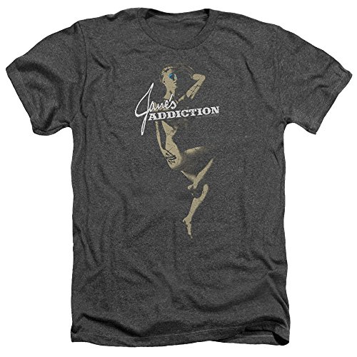 Janes Addiction Inside Escape Unisex Adult Heather T Shirt for Men and Women, Medium Charcoal