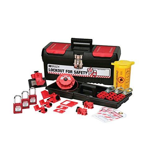 Brady Personal Electrical Lockout Toolbox Kit, Includes 2 Safety Padlocks by Brady