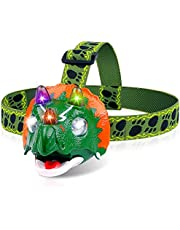 Triceratops LED Headlamp - Dinosaur Headlamp for Kids Camping Essentials | Dinosaur Toy Head Lamp Flashlight for Boys Girls or Adults | Ideal Gift for Birthday, Thanksgiving, Christmas, New Year