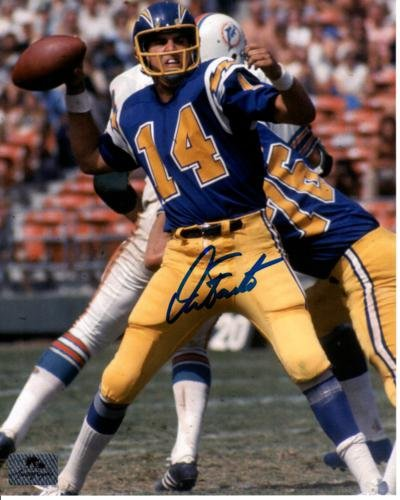 Dan Fouts Autographed San Diego Chargers (Yellow Pants) 8x10 Photo ()