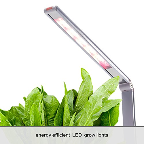 Indoor Herb Garden, AIBIS Hydroponics Watering Growing System, Organic Home Herbs Gardening Kit with Led Grow Light, Not Contain Seeds, Best for Flower and Vegetable like Thyme, Mint and Tomato(White) by AIBIS (Image #4)