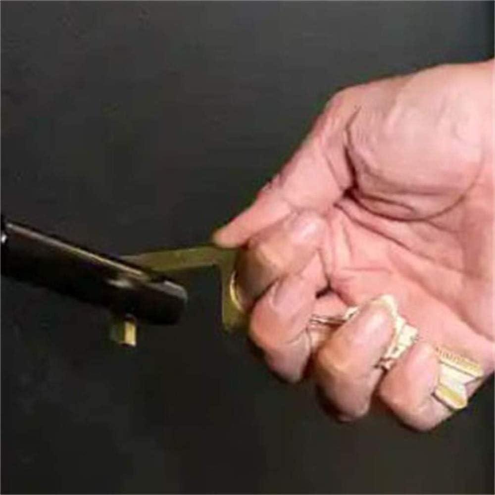 palanca manual sin contacto m/ás cercano para abrir el bot/ón del elevador Higiene abrepuertas de lat/ón llavero de protecci/ón de la salud abrir y cerrar la puerta mantener las manos limpias
