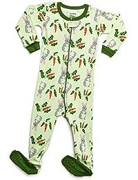 2a47e3ccae Baby Boys Girls Footed Pajamas Sleeper 100% Organic Cotton Kids   Toddler  Pjs Sleepwear (