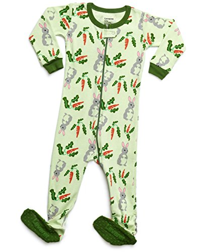 Leveret Organic Cotton Rabbit Footed Pajama Sleeper