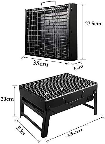 YWZQ Grill Barbecue Portable, Pliant Portable pour Cuisine de Plein air Camping Randonnée Pique-niques, pour Pique-Nique Jardin Terrasse Camping Voyage