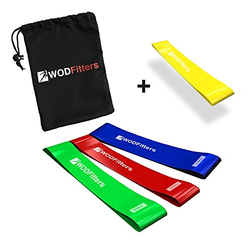 WODFitters Mini Bands Set - 4 Exercise and Workout Resistanc