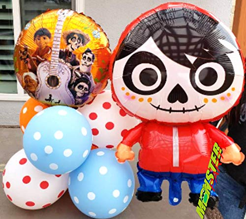 7pc COCO Birthday Party foil Balloons balloon supplies decoration centerpiece foil miguel halloween sugar skull JEWELESPARTY