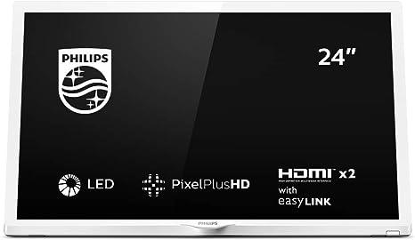 Philips 24PHS4354/12 Televisor 24 pulgadas, 60 cm, LED TV (Pixel Plus HD, Sonido envolvente, HDMI, USB), color Blanco: Philips: Amazon.es: Electrónica