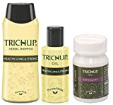 (US) Beautiful Hair Care Kit Trichup (Hair Oil, Shampoo, Conditioner, Tablet) (Green)