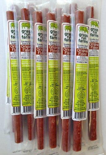 Herbe Run Farms 100% boeuf engraissé Sticks - sans gluten - sans antibiotiques ou des hormones (Original, 18-Count)