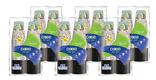 Price comparison product image Dixie To Go Paper Cups and Lids, Pack of 6 - 156 count