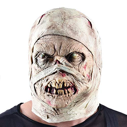 - Halloween Decoration Horror Zombie Corpse Mummy Mask Cosplay Adult Latex Full Face Helmet Halloween Party Scary Props Nausea Toy