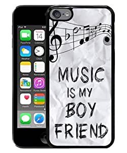Popular iPod Touch 6 Case ,Beautiful And Durable Designed Case With Music Is My Boyfriend black iPod Touch 6 Screen Cover Custom Drsigned Phone Case