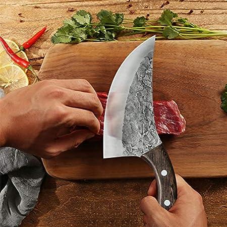 """6""""Cuchillo de deshuesado forjado hecho a mano de estilo serbio Cuchillo de carnicero de acero inoxidable Cuchillo de cocina Cuchillo de cocina Cuchillo de carne juego de cuchillos de cuchillo"""