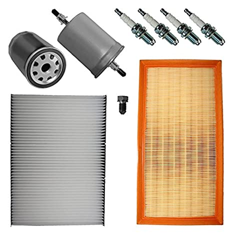 Paquete para inspección SET D 1x Filtro de aire 1x Filtro de habitáculo (Filtro antipolen) con carbon ...
