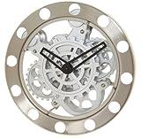 Kikkerland Reloj De Pared Con Engranes Movimiento Vestir