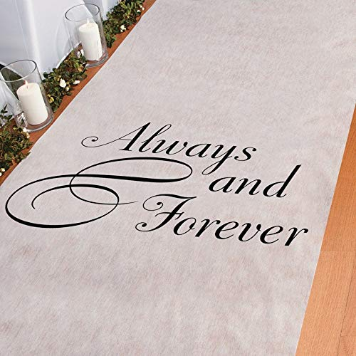Wedding Runner - Always & Forever 100' X 3' Wedding Aisle Runner
