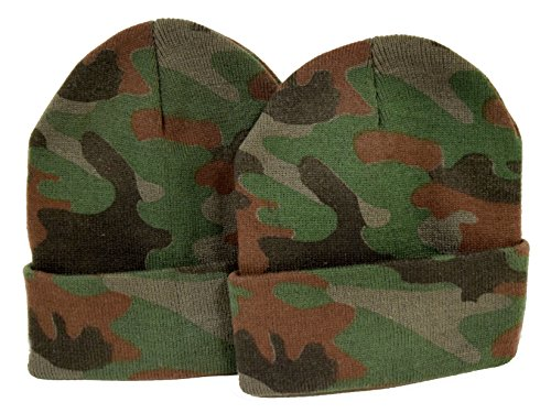 (Great Deals! 2 Pack Knit Beanies / Camo )
