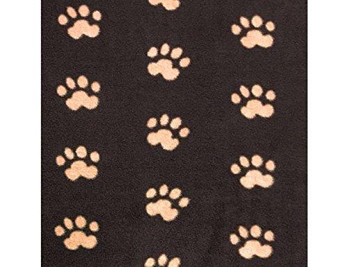BLACK BROWN ANIMAL PAW PRINT POLAR FLEECE FABRIC 60 WIDTH SOLD BY THE YARD 672 by Big Z Fabric   B00M1XYF0U