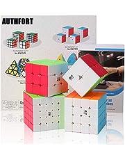 Roxenda Speed Cube Bundel Moyu 2x2 3x3 4x4 5x5 Geen Stickers Heldere Speed Cube Klaslokaal Gladde Puzzel Kubus Met Cadeaupapier