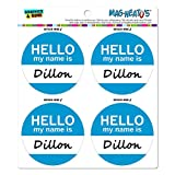 Dillon Hello My Name Is MAG-NEATO'S(TM) Automotive Car Refrigerator Locker Vinyl Magnet Set
