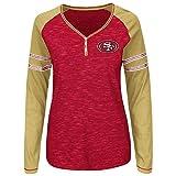 "San Francisco 49ers Women's Majestic NFL ""Lead Play"" Long Sleeve Henley Shirt"