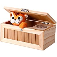 New Upgrade Useless Box with Sound Cute Tiger 20 Modes Funny Toy Gift Stress-Reduction Desk Decoration By KTOY