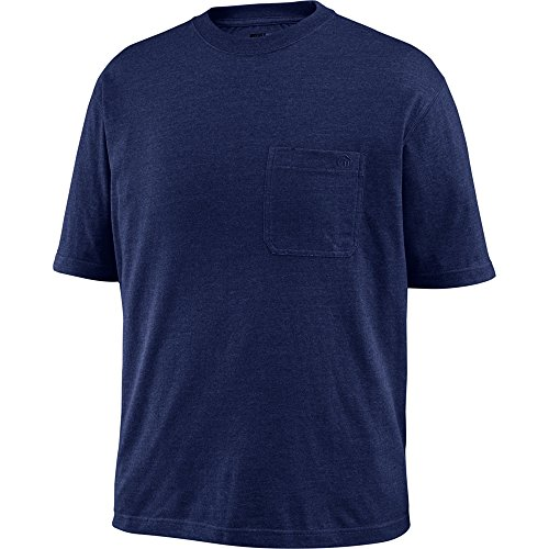 Wolverine Men's Knox Short Sleeve Pocketed Wicking T-Shirt, Navy, X-Large