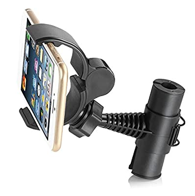 """Universal Phone Baby Kids Car Backseat Headrest Smart Phone Car Mount Stand Snap-on Holder (Phb) with 360 Degrees Rotation 65-95mm for Asus Zenfone 2 Ze500cl 5"""" + Free Oxdozer Stylus Pen by OXDOZER"""