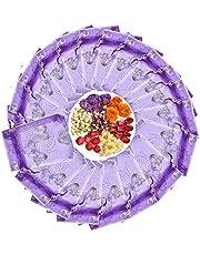 TooGet - Bolsitas regalo de organza para boda color morado (100 unidades)