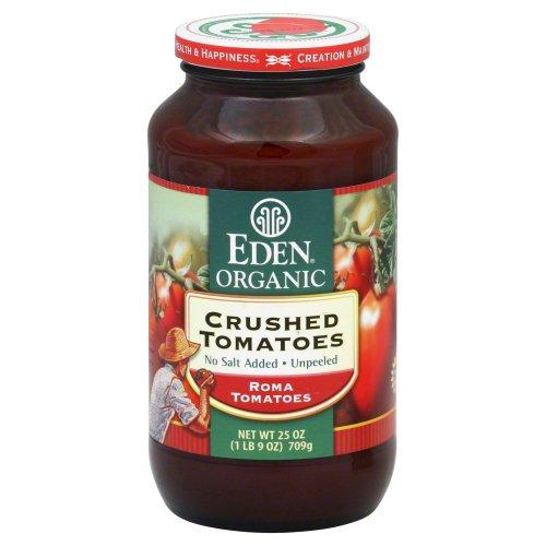Eden Foods Crushed Tomatoes No Salt Organic 25 Oz (Pack of 12) ()