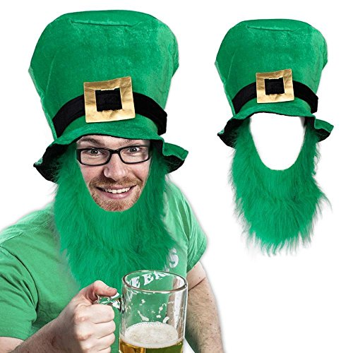 ST. PATRICKS DAY TOP HAT / BEARD - PC]()