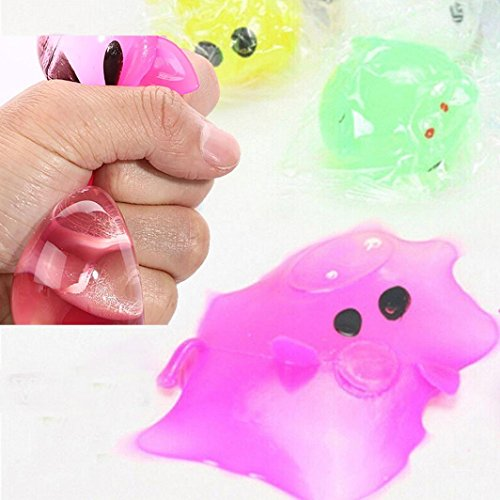 Various Styles Pig Toys, Balakie Glow Anti-stress Decompression Creative Splat Ball Vent Toy