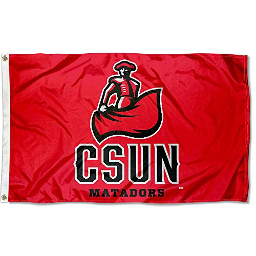 College Flags and Banners Co. Cal State Northridge Matadors CSUN Logo Flag (Northridge-shops)
