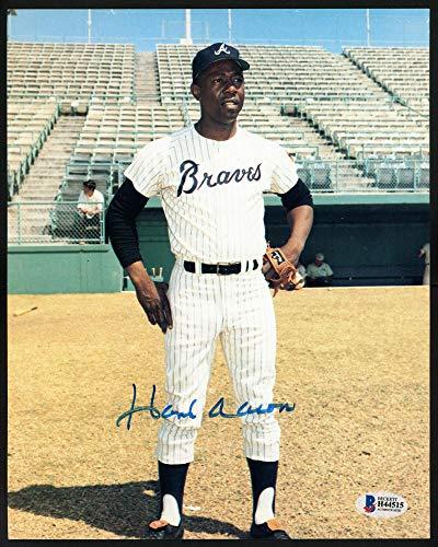 Signed Hank Aaron Photograph - 8x10 Beckett BAS #H44515 - Beckett Authentication - Autographed MLB Photos