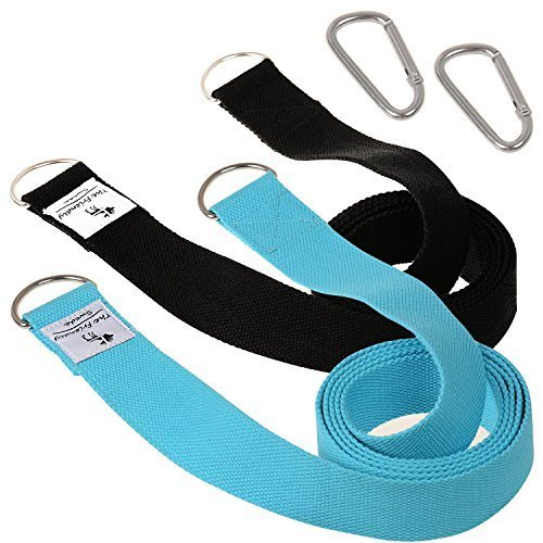 The Friendly Swede 6ft Yoga Mat Strap Sling (2 Pack)