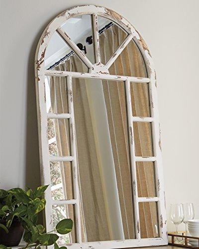Buy distressed white mirror