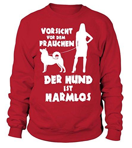 IchLiebeHunde.com - Sudadera con capucha - para mujer rojo M