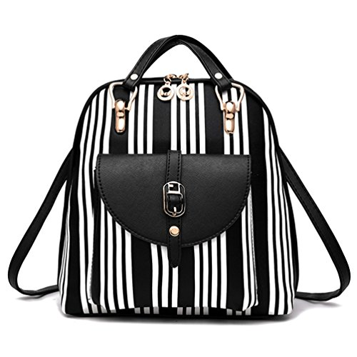 Style And Printed Beginning Cute School Pattern Casual Ladies Bag Black Auspicious White Cartoon ZBCx1Zf