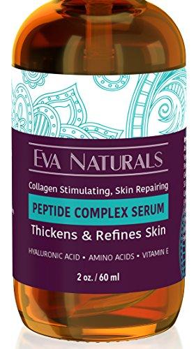 Peptide complexe sérum pour la peau, Anti vieillissement, Anti rides collagène Booster, visage & cou crème (2 oz)
