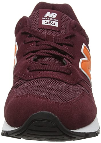New Balance 565 Zapatillas de Running, Hombre Multicolor (Burgundy/Orange)
