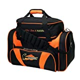 Cheap Hammer Premium Deluxe Double Tote Bowling Bag, Black/Orange