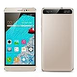 Padcod K800 6.0'' Unlocked Android Smartphone,Dual-SIM Cellphone MT6580 Cortex A7 Quad-Core Processor,8GB ROM,5MP+2MP Camera,2G/3G Network,Wi-Fi/Bluetooth Mobile Phone (Gold)