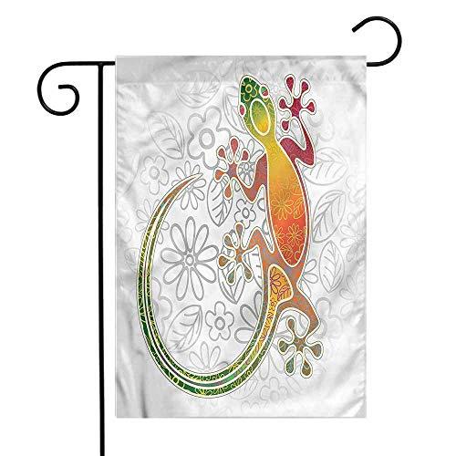 WinfreyDecor Batik Garden Flag Tribal Art Frog Flowers Premium Material ()