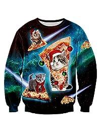 Raisevern Unisex 3d Digital Print Crewneck Pullovers Sweater Sweatshirts