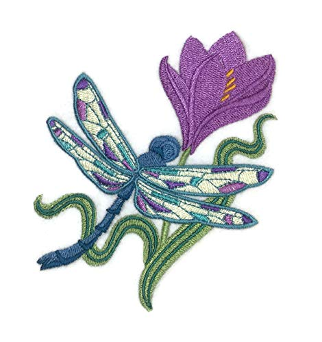 - Custom and Unique Amazing Colorful Butterflies[ Dragonfly Spring ] Embroidered Iron On/Sew patch [4.86
