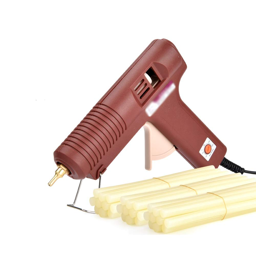 Adhesive Hot melt glue gun with 10/30 glue stick 100W Industrial grade electric hot melt glue gun rapid heating technology, suitable for DIY art crafts decoration, home fast repair, woodworking, holid by NingNing