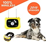 Wireless Dog Fence Electric Pet Containment System, Safe Effective Anti Over Shock Design, Adjustable Control Range 1000 Feet & Display Distance, Rechargeable Waterproof Collar Receiver (1 Dog System)